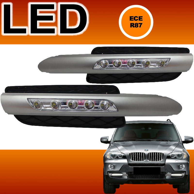 Fari luci diurne led con griglie fendi bmw x5 e70 tuner for Luci al led