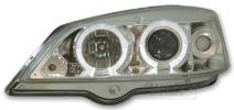 FARI ANTERIORI OPEL ASTRA G ANGEL EYES LED CROMATI