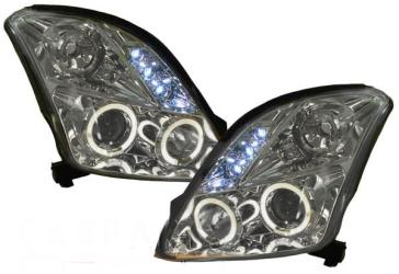 FARI ANTERIORI SUZUKI SWIFT MZ/EZ ANGEL LED CROMATI