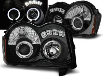 FARI ANTERIORI ANGEL EYES LED JEEP GRAND CHEROKEE (WK) 08-10 NERI