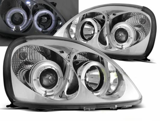 FARI ANTERIORI ANGEL EYES LED TOYOTA YARIS 99-03 CROMATI