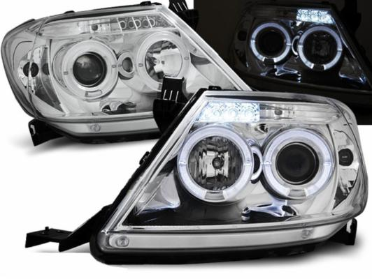 FARI ANTERIORI ANGEL EYES LED TOYOTA HILUX 05-11 CROMATI