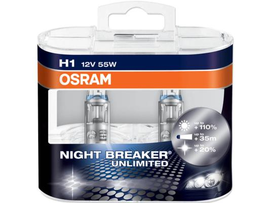 LAMPADINE ALOGENE H1 OSRAM NIGHT BREAKER® UNLIMITED