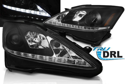 FARI ANTERIORI DRL LED LEXUS IS 06-13 NERI