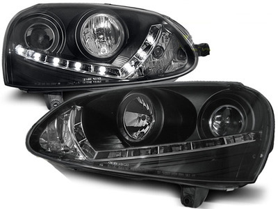 FARI ANTERIORI DAYLINE VW GOLF 5 LED NERI