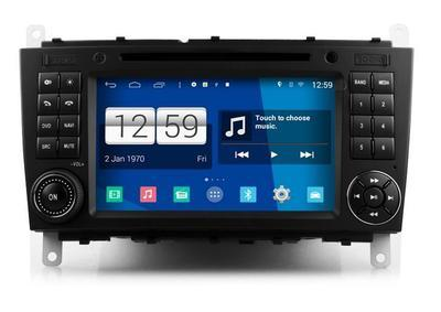 Radio Monitor ANDROID 4.4.4 GPS Mercedes Classe C - CLC - G