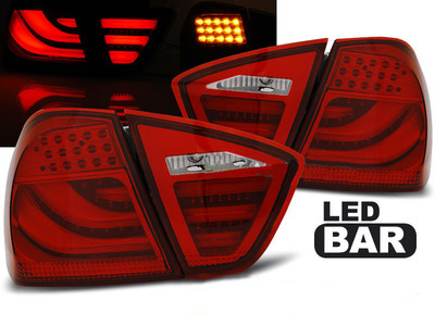 FARI POSTERIORI TUBE LED BAR BMW SERIE 3 E90 BERLINA ROSSI