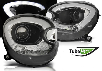 FARI ANTERIORI TUBE LED MINI R60 COUNTRYMAN NERI