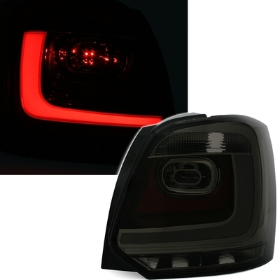 FARI POSTERIORI LED VW POLO 6R LED TUBE SMOKE Fumè