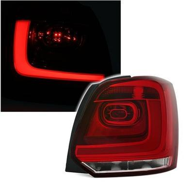 FARI POSTERIORI LED VW POLO 6R LED TUBE ROSSO CROMO