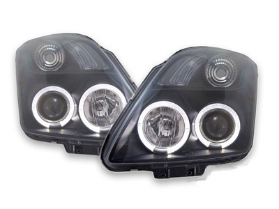 FARI ANTERIORI SUZUKI SWIFT MZ/EZ ANGEL EYES LED NERI