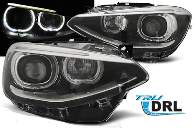 FARI ANTERIORI ANGEL EYES BMW F20 11-15 serie1 LED H7