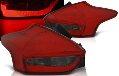 FARI POSTERIORI TUBE LED FORD FOCUS 4 restyling 2014 ROSSO SMOKE