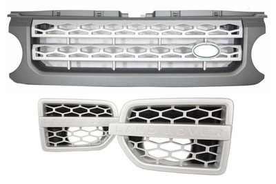 SET GRIGLIE CALANDRA RANGE ROVER DISCOVERY 2010 Autobiography Look SILVER Grey