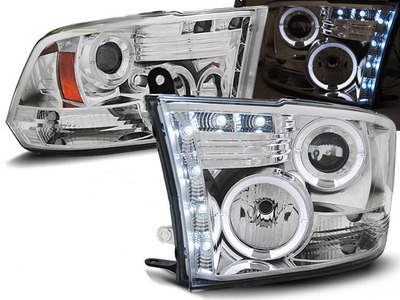 FARI ANTERIORI ANGEL EYES LED DODGE RAM 09-11 CROMATI