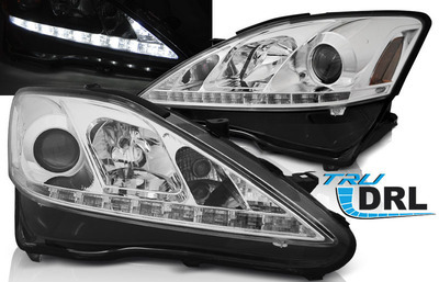 FARI ANTERIORI DRL LED LEXUS IS 06-13 CROMATI