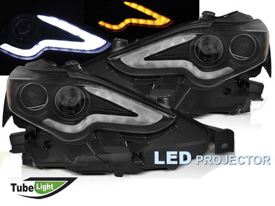 FARI ANTERIORI DRL FULL LED LEXUS IS 13-16 NERI
