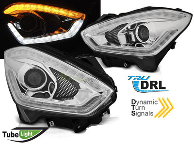 FARI ANTERIORI TUBE LED DINAMICI SUZUKI SWIFT 2017 CROMATI