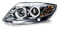 FARI ANTERIORI BMW Z4 E85 e E86 ANGEL EYES LED CROMATI